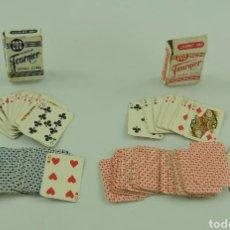Barajas de cartas: ~ LOTE SET DE DOS 2 BARAJAS NAIPE LILIPUT FOURNIER VITORIA ~. Lote 231951770
