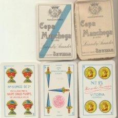 Jeux de cartes: BARAJA ESPAÑOLA. 40 CARTAS. PUBLICIDAD MANZANARES CEPA MANCHEGA 2ª AÑO. LEANDRO AMADOR . SEVILLA. HE. Lote 232507970