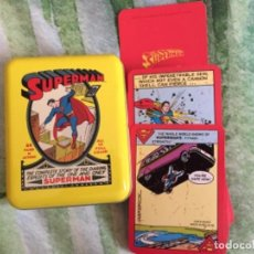Barajas de cartas: BARAJA SUPERMAN PÓKER LATA RETRO. Lote 289908973