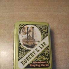 Barajas de cartas: ROBERT E.LEE. RIVERBOAT. 2 BARAJAS DE 54 CARTAS CADA UNA. ALBERT.E.PRICE.INC. 1980. MADE IN U.S.A. Lote 234440025