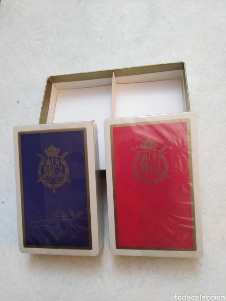 Barajas de cartas: Lote de 2 barajas cartas firmadas por los reyes Juan Carlos y Sofía - Foto 4 - 234589850