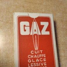 Barajas de cartas: GAZ. CUIT, CHAUFFE, GLACE, LESSIVE, REPASSE. BARAJA DE 54 CARTAS PUBLICITARIA. FRANCIA. AÑOS 30S.. Lote 234727085