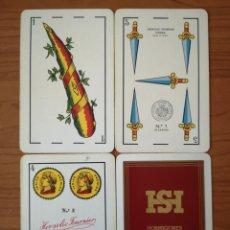 Barajas de cartas: BARAJA NAIPE ESPAÑOL. HERACLIO FOURNIER. N.º1 HORMIGONES SEGARIA SL. VERGEL VALENCIA. Lote 234825675