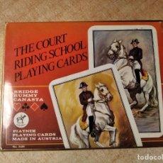 Barajas de cartas: THE COURT RIDING SCHOOL PLAYING CARDS. 2 BARAJAS DE POKER DE 55 CARTAS. PIATNIK. AUSTRIA. AÑOS 60S.. Lote 235143375