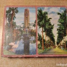 Barajas de cartas: THE BOK SINGING TOWER.LAKE WELLS.FLORIDA.ESTUCHE CON 2 BARAJAS DE 52 CARTAS.A.WESTERN.PRODUCT. U.S.A. Lote 235160045