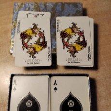 Barajas de cartas: ESTUCHE CON 2 BARAJAS DE POKER DE 54 CARTAS. A. WESTERN PRODUCT. MADE IN U.S.A. AÑO 1.939. Lote 235167390