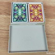 Jeux de cartes: PAREJA DE BARAJAS POKER FOURNIER EN CAJA AÑOS 70. Lote 235169365