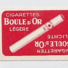 Barajas de cartas: CIGARETTES BOULE D´OR. LÉGÈRE Y LICHTE. BARAJA DE 52 CARTAS PUBLICITARIAS. TABACO. BELGICA.AÑOS 30S.. Lote 235172985