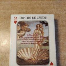 Barajas de cartas: ANTOLOGIA DE POEMAS DE AMOR.TEXTO EN PORTUGUÉS.BARAJA DE POKER DE 54 CARTAS.EDITOR AUSENCIA.PORTUGAL. Lote 235260405