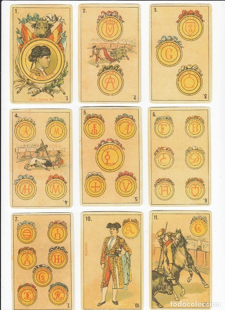 Barajas de cartas: Baraja taurina. España., siglo XIX. Facsimil del año 2.004. Museo Fournier. 40 cartas. - Foto 9 - 235277390