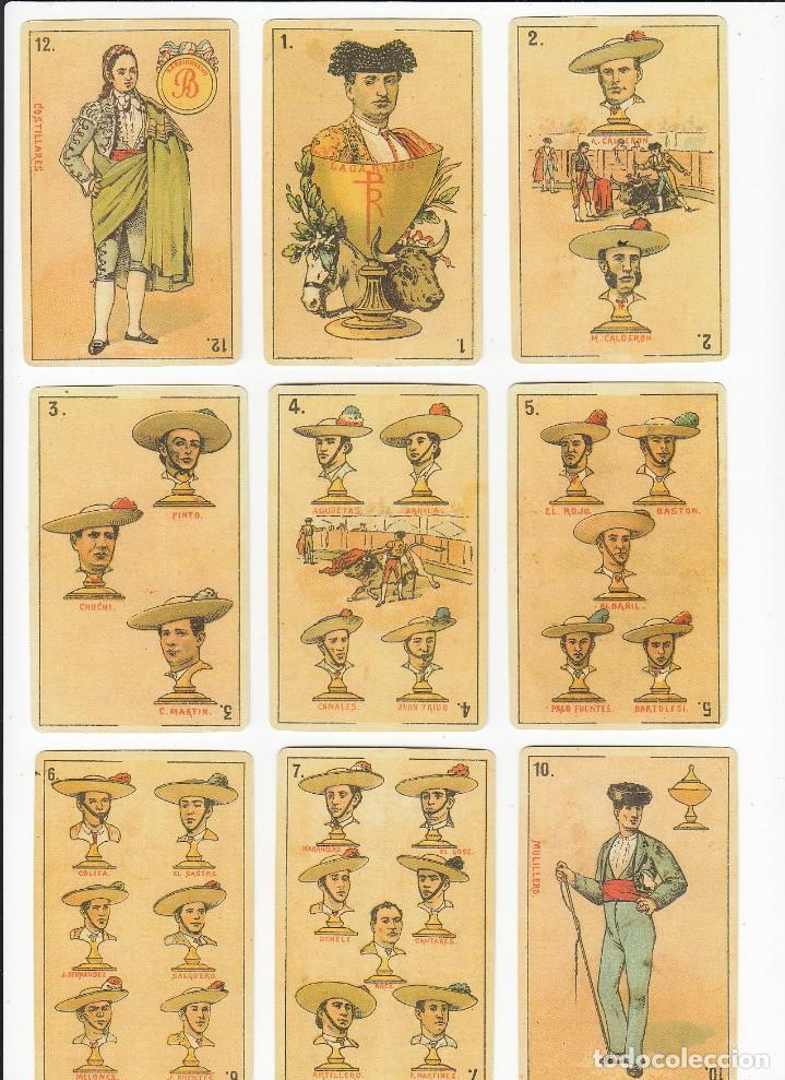 Barajas de cartas: Baraja taurina. España., siglo XIX. Facsimil del año 2.004. Museo Fournier. 40 cartas. - Foto 10 - 235277390