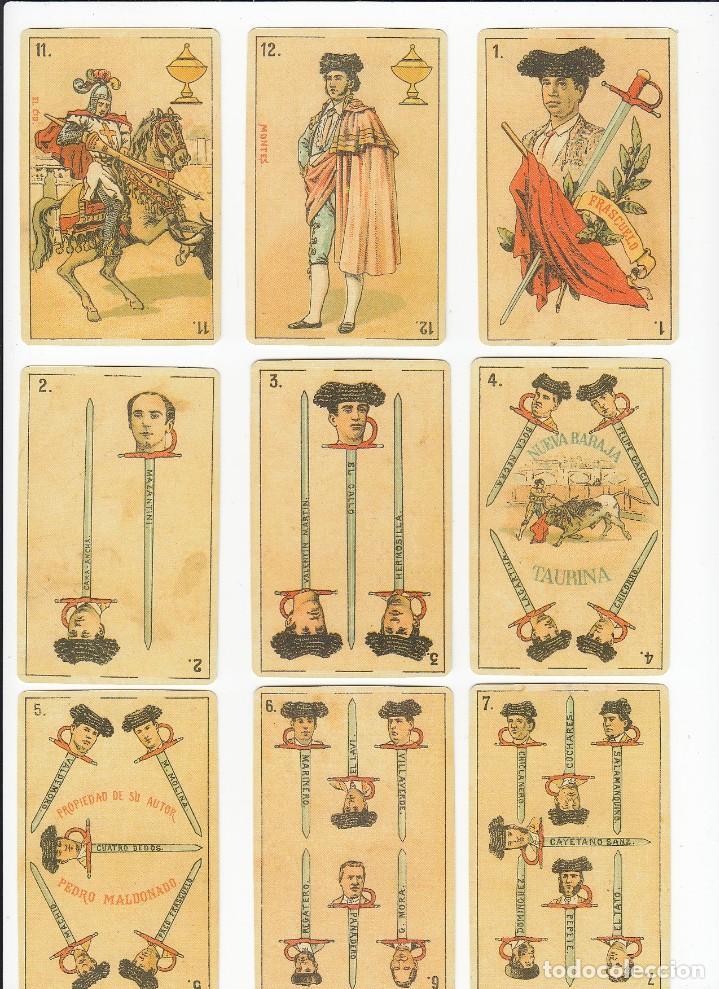 Barajas de cartas: Baraja taurina. España., siglo XIX. Facsimil del año 2.004. Museo Fournier. 40 cartas. - Foto 11 - 235277390