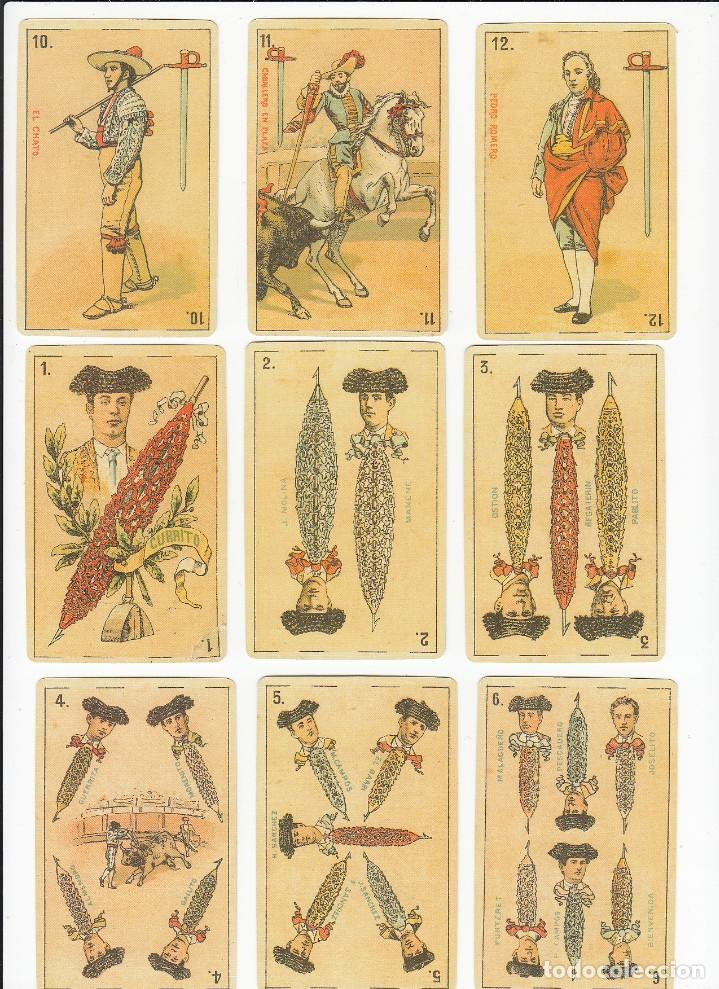 Barajas de cartas: Baraja taurina. España., siglo XIX. Facsimil del año 2.004. Museo Fournier. 40 cartas. - Foto 12 - 235277390