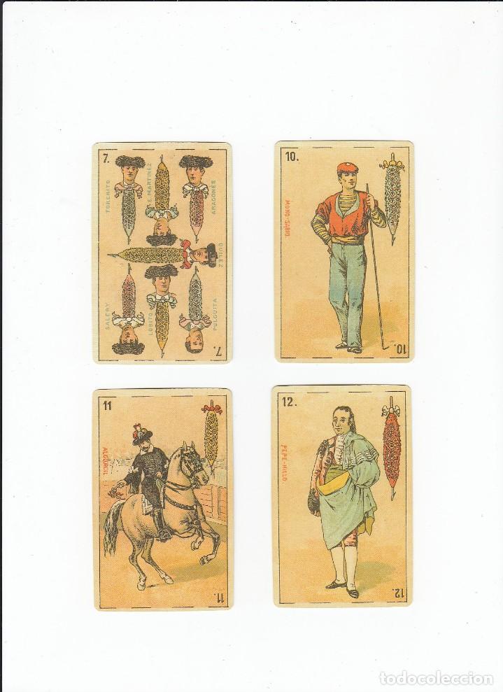 Barajas de cartas: Baraja taurina. España., siglo XIX. Facsimil del año 2.004. Museo Fournier. 40 cartas. - Foto 13 - 235277390