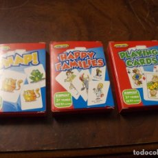 Barajas de cartas: LOTE 3 BARAJAS SPEAR'S GAMES. +3 AÑOS. PLAYING CARDS. HAPPY FAMILIES. SNAP! (FALTA 1). Lote 235344250
