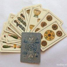 Barajas de cartas: 16 CARTAS CROMOLITOGRAFICAS. BARAJA FANTASÍA. REVERSO AZUL. DIBUJOS AZTECAS.. Lote 235559520
