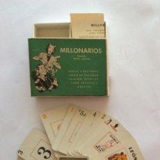 Jeux de cartes: ESTUCHE CON BARAJA FRANCISCO ROSELLÓ. 1949. JUEGO DE SOCIEDAD, MILLONARIOS. 56 CARTAS. COMPLETA.. Lote 235580095