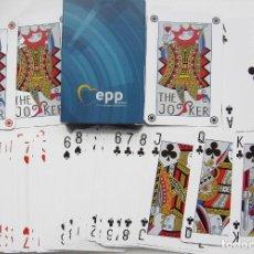 Barajas de cartas: BARAJA DE PÓKER PROPORCIONADA EN LA COMUNIDAD EUROPEA.. Lote 235622470