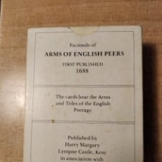 Barajas de cartas: FACSIMILE OF ARMS OF ENGLISH PEERS. FIRST PUBLISHER 1.688.HARRY MARGARY-GUIDHALL LIBRARY.LONDON.1978. Lote 235811900