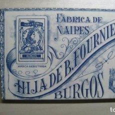Barajas de cartas: ANTIGUA BARAJA HIJA DE FOURNIER FABRICA DE NAIPES DE BURGOS AÑO 1930 FLORETE Nº 14. Lote 235889755