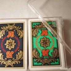 Barajas de cartas: CAJA CON 2 BARAJAS FOURNIER POKER, REVERSO PUBLICITARIO JB. Lote 236069700