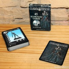 Barajas de cartas: THE AGE OF THE RAG'NAROK - CONFRONTATION - 45 SCORPION CARDS - RACKHAM - COMPLETO Y NUEVO. Lote 236308115