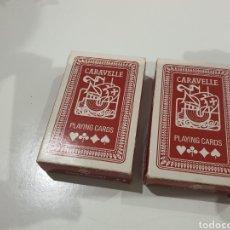 Barajas de cartas: DOS BARAJAS DE POKER CARAVELLE. Lote 236363055