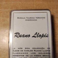Barajas de cartas: BARAJA TAURINA TORANZO AMERICANA. RUANO LLOPIS. 56 CARTAS POKER. FCO.FDEZ.SOTO. MÉXICO 2002.. Lote 236445485