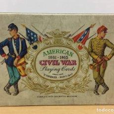 Barajas de cartas: BARAJA GUERRA SECESIÓN AMERICANA DE HERACLIO FOURNIER (1981) - AMERICAN CIVIL WAR (1961-1965). Lote 236463755
