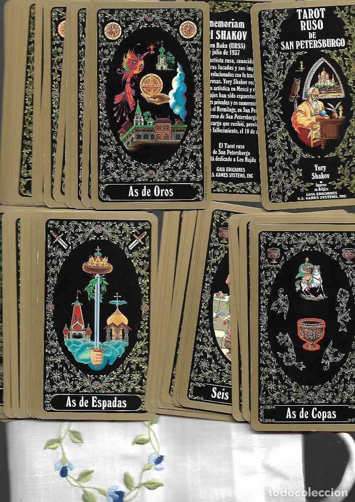 BARAJA DEL TAROT RUSO DE SAN PETERSBURGO. YURY SHAKOV. 80 CARTAS. EN BOLSA DE TELA ESTADO PERFECTO (Juguetes y Juegos - Cartas y Naipes - Barajas Tarot)