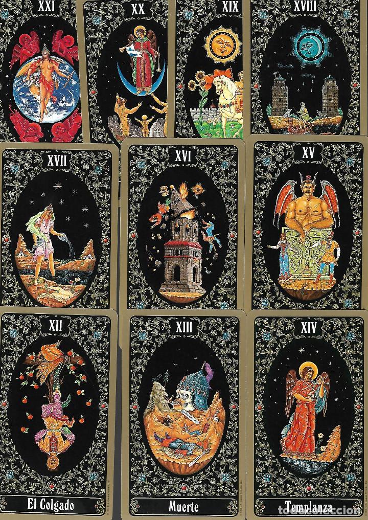 Barajas de cartas: Baraja del Tarot Ruso de San Petersburgo. Yury Shakov. 80 cartas. en bolsa de tela estado perfecto - Foto 5 - 236598340