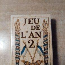 Barajas de cartas: JEU DE L´AN 2.BARAJA DE POKER DE 54 CARTAS.FACSIMIL DE ANTIGUA BARAJA DE GRIMAUD.REVOLUCIÓN FRANCESA. Lote 236787020