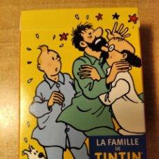 Barajas de cartas: TINTIN . LA FAMILLE DE TINTIN. BARAJA DE POKER DE 55 CARTAS. HERGÉ/ MOULINSART. 2011.. Lote 236797650