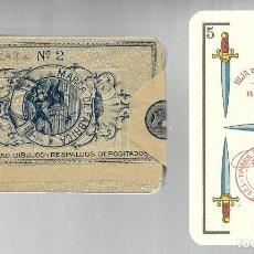 Barajas de cartas: BARAJA HIJA B. FORNIER BURGOS Nº 2, BANDERA TRICOLOR, SELLO GOBIERNO PROVISIONAL. PRECINTADA. MUY DI. Lote 237096790