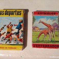 Barajas de cartas: 2 BARAJAS DE CARTAS FOURNIER ANIMALES VERTEBRADOS Y DEPORTES. Lote 237223420