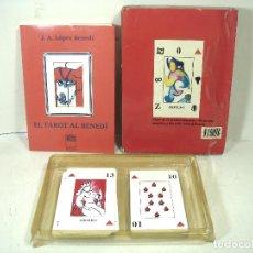Jeux de cartes: EL TAROT AL BENEDI 1992 - J.A. LOPEZ BENEDI- EDIT.CASA DE HORUS -BARAJA + LIBRO JUEGO CARTAS. Lote 237289020