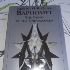 Barajas de cartas: BAPHOMET, BARAJA DE TAROT DE H. R.GIGER SIN ABRIR, NUNCA TOCADA. Lote 237467505