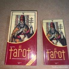 Barajas de cartas: LOTE ESTUCHE BARAJA TAROT Y MINI LIBRO GUÍA. Lote 237598530