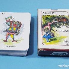 Jeux de cartes: ALICE IN WONDERLAND GIBSON GAMES PEPYS SERIES 42 CARTAS + 2 INSTRUCCIONES, ALICIA PAIS MARAVILLAS. Lote 237984515