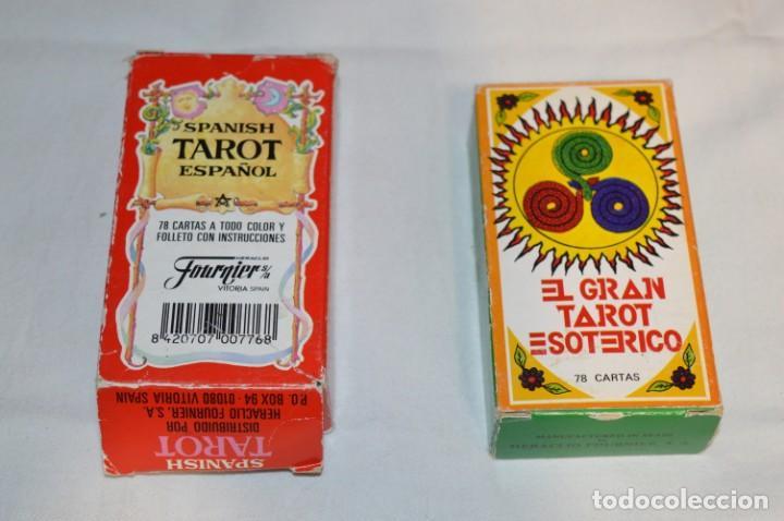 LOTE 02 / DOS BARAJAS DE TAROT FOURNIER / DIFERENTES MODELOS/JUEGOS - BUEN ESTADO ¡MIRA FOTOS! (Juguetes y Juegos - Cartas y Naipes - Barajas Tarot)