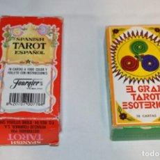 Barajas de cartas: LOTE 02 / DOS BARAJAS DE TAROT FOURNIER / DIFERENTES MODELOS/JUEGOS - BUEN ESTADO ¡MIRA FOTOS!. Lote 238485510
