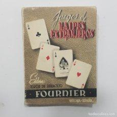 Barajas de cartas: LIBRO JUEGOS DE NAIPES EXTRANJEROS. HIJOS HERACLIO FOURNIER. 1951. Lote 238512505