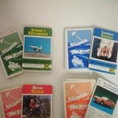 Barajas de cartas: 4 BARAJAS DE CARTAS: COCHES, MOTOS, LANCHAS, AVIONES. AÑOS 70. Lote 238543480