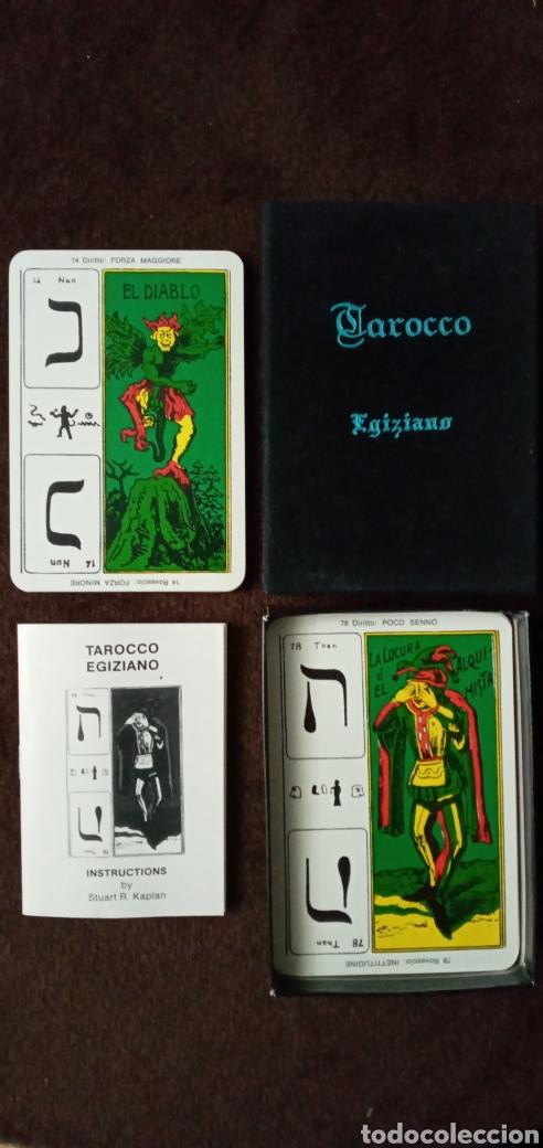 Barajas de cartas: ***MUY DIFÍCIL.*TAROCCO EGIZIANO.***CARTAS TAROT***COLECCIONISTAS.ES UNA BARAJA PRECIOSA. - Foto 10 - 159723841