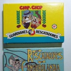 Barajas de cartas: 2 BARAJAS DISNEY CHIP Y CHOP GUARDIANES Y RESCATADORES Y RESCATADORES EN CANGUROLANDIA NUEVAS. Lote 239995220