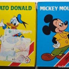 Barajas de cartas: DISNEY 2 BARAJAS MICKEY MOUSE - PATO DONALD FOURNIER NUEVAS. Lote 240056155