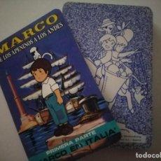 Barajas de cartas: BARAJA MARCO DE LOS APENINOS A LOS ANDES 1ª PARTE MARCO EN ITALIA. Lote 240354205