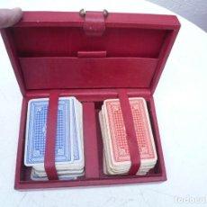 Barajas de cartas: BARAJA FRANCESA B.P. GRIMAUD. ESTUCHE CON DOS BARAJAS. Lote 240727545