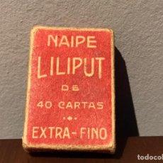 Barajas de cartas: ANTIGUA BARAJA DE CARTAS - LILIPUT- H.FOURNIER. Lote 240928400