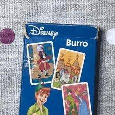 Barajas de cartas: BARAJA DE CARTAS DISNEY JUEGO DE EL BURRO. PETER PAN.. Lote 240929115